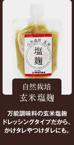 万能調味料の塩麹 ドレッシングタイプだから、かけタレやつけダレにも。自然栽培 玄米塩麹