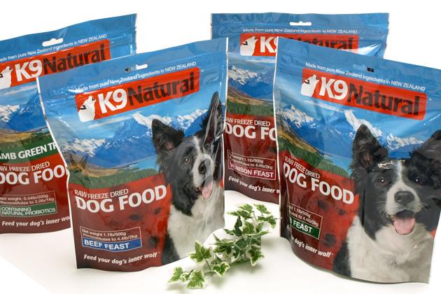 ニュージーランド発安全新鮮100%ナチュラル!生食フリーズドライドッグフード K9ナチュラル