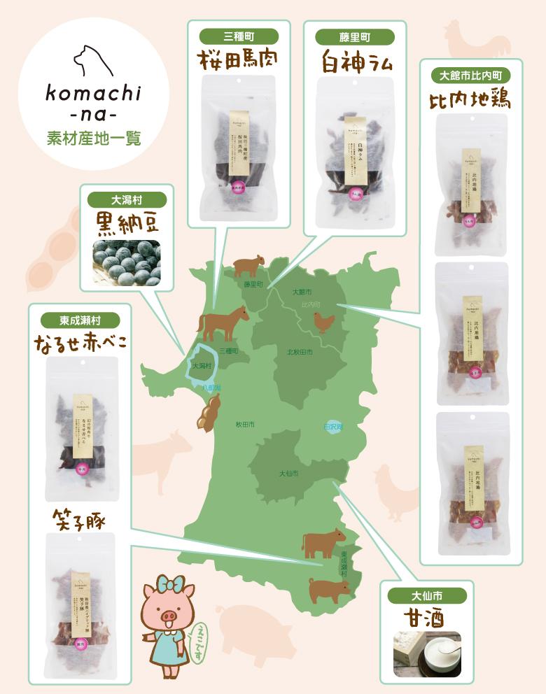 komachi-na- こまちな コマチナ 素材産地一覧 アクシエ
