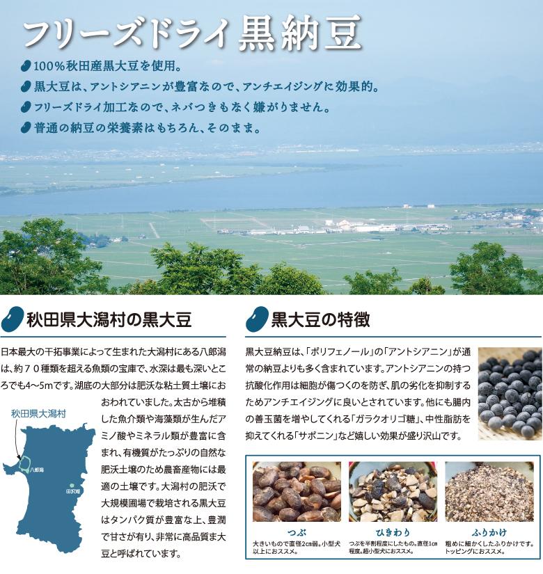 komachi-na- こまちな コマチナ フリーズドライ黒納豆 アクシエ