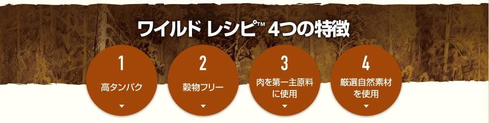ニュートロ ワイルドレシピ ドッグ 4つの特徴